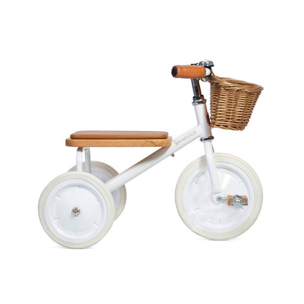 Banwood Trike - White - Dapper Mr Bear - www.dappermrbear.com - NZ