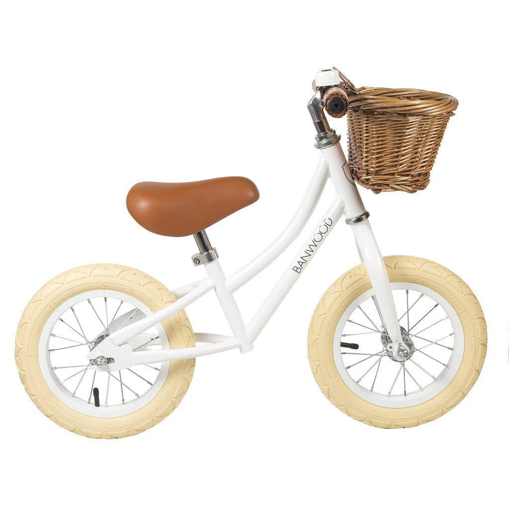 Banwood First Go Balance Bike - White - Dapper Mr Bear - www.dappermrbear.com - NZ