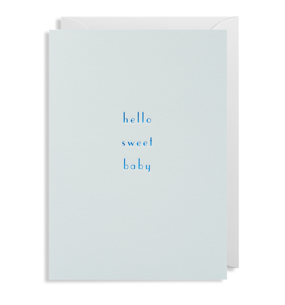 Blue Hello Sweet Baby Card