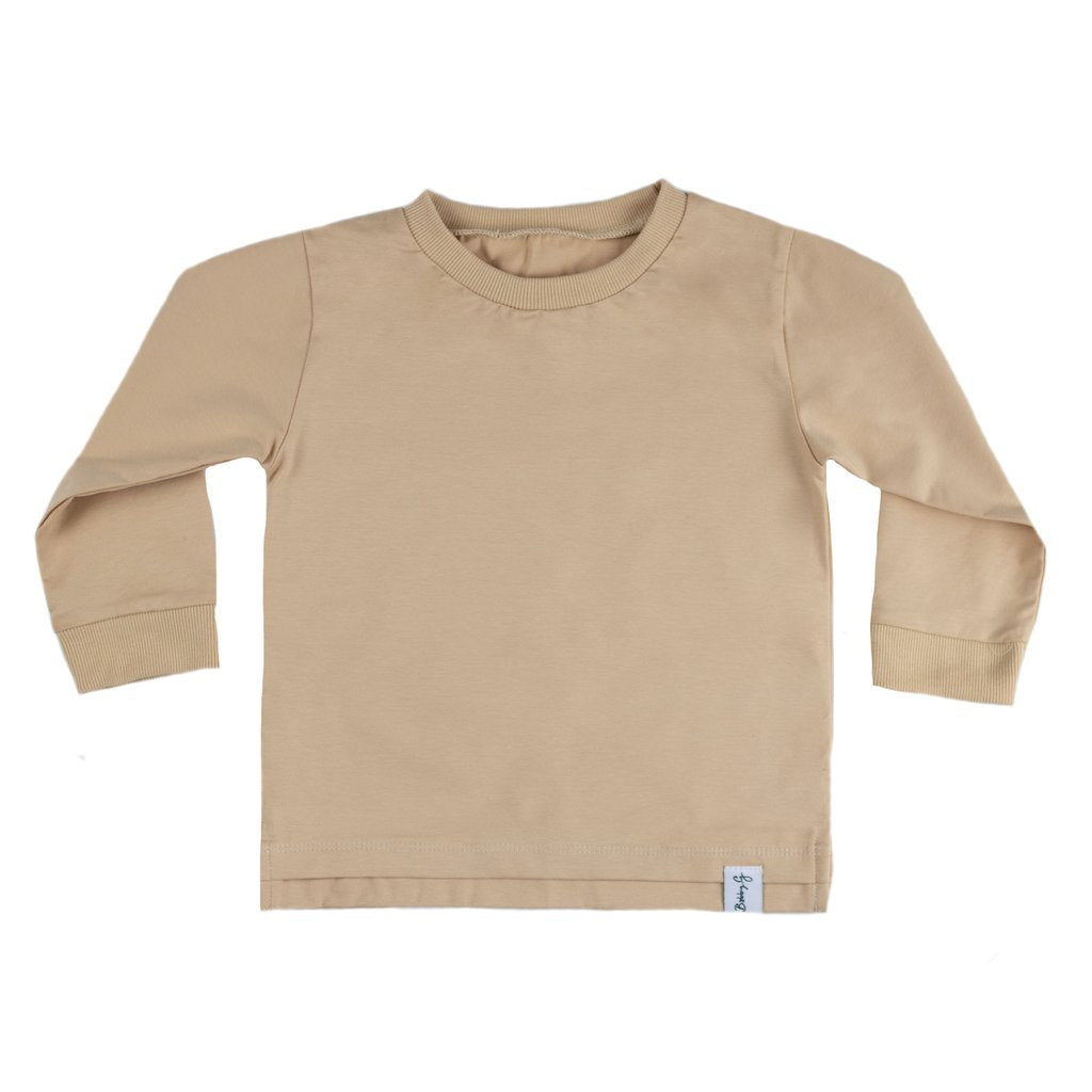 Bobby G Long Sleeve Tee Wheat - Dapper Mr Bear - www.dappermrbear.com - NZ