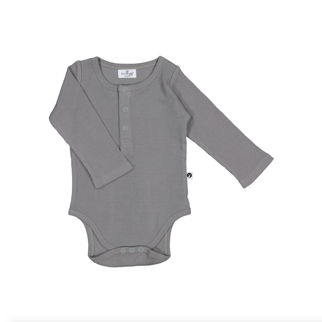 Burrow and Be Rib Bodysuit - Steel - Dapper Mr bear - www.dappermrbear.com - NZ