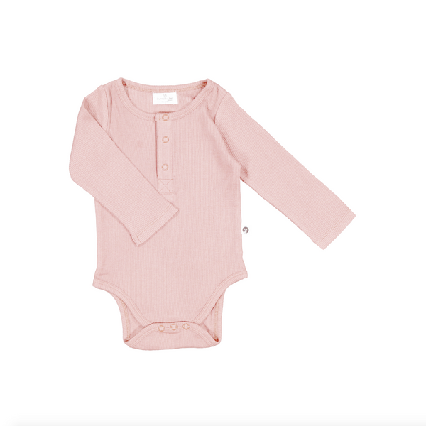 Burrow and Be Rib Bodysuit - Dusty Rose - Dapper Mr Bear - www.dappermrbear.com - NZ