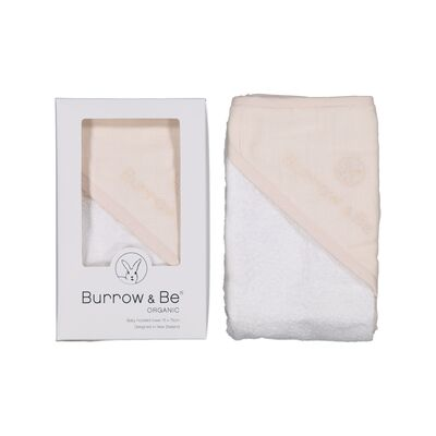 Burrow and Be Baby Hooded Towel - Almond - Dapper Mr Bear - www.dappermrbear.com - nZ