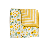 Clementine Kids - Reversible Quilt/Blanket - Buttercup Blossom - Dapper Mr Bear - www.dappermrbear.com