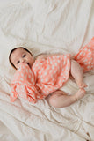 Clementine Kids - Swaddle - Spotted Blush - Dapper Mr Bear - www.dappermrbear.com - NZ