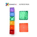 Connetix Tiles 40 Piece Square Pack - Dapper Mr Bear - www.dappermrbear.com - NZ