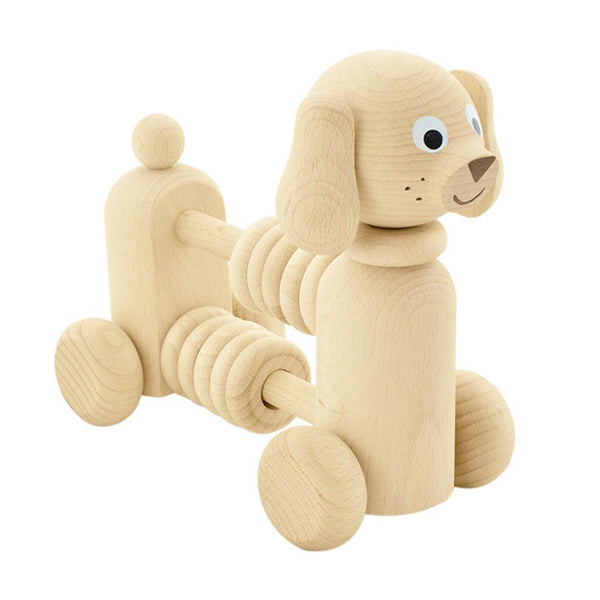 Wooden Counting Dog with Beads