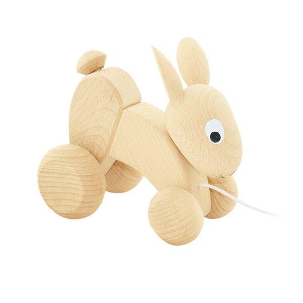 Wooden Pull Along Rabbit - Dapper Mr Bear - www.dappermrbear.com - NZ - Miva Vacov