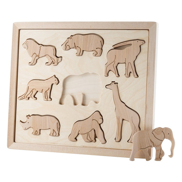 Kubi Dubi Wooden Sorting Puzzle - Animals of Africa  - Dapper Mr Bear - www.dappermrbear.com - NZ