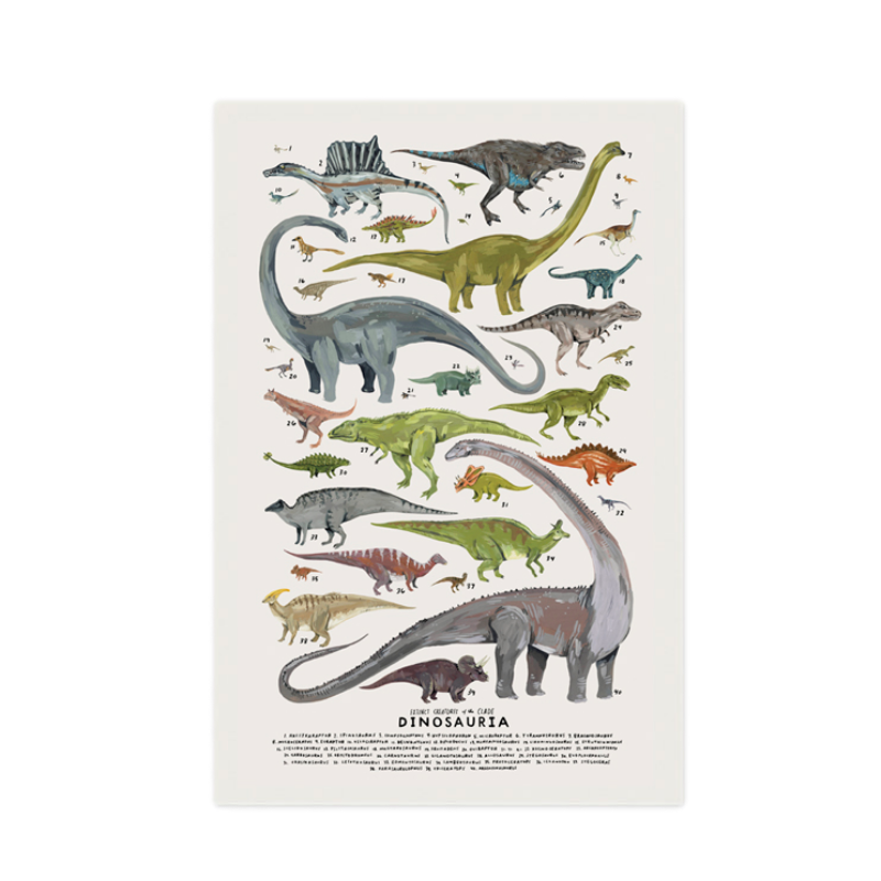 Dinosauria Print - Dapper Mr Bear - www.dappermrbear.com - NZ