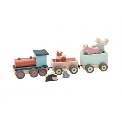 Kids Concept - Wooden Animal Train - Dapper Mr Bear - www.dappermrbear.com - NZ