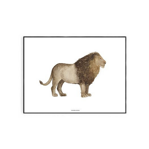 Fashionell Interiors - Lion Print - Dapper Mr Bear - www.dappermrbear.com - NZ