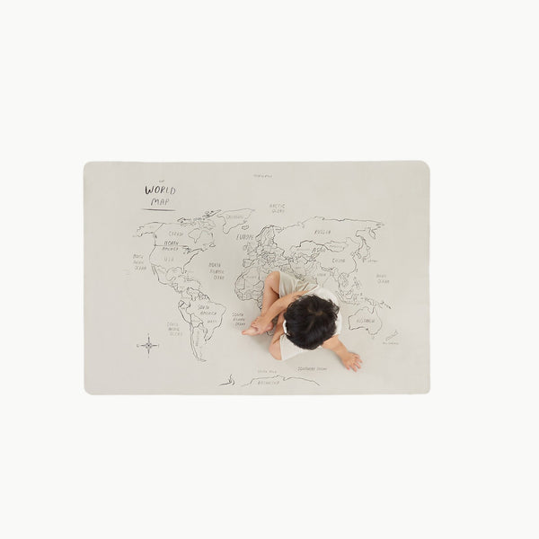 Gather - Mini+ World Map Mat - Dapper Mr Bear - www.dappermrbear.com - NZ