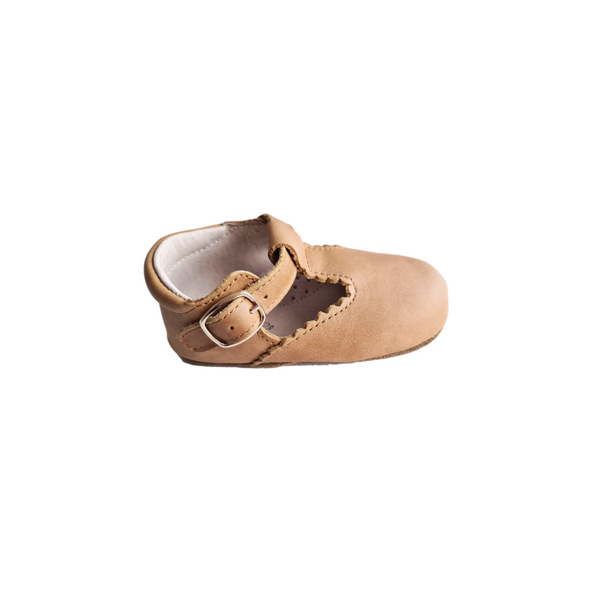 Indi and Co Soft Sole Genuine Leather T-Bar - Gingerbread