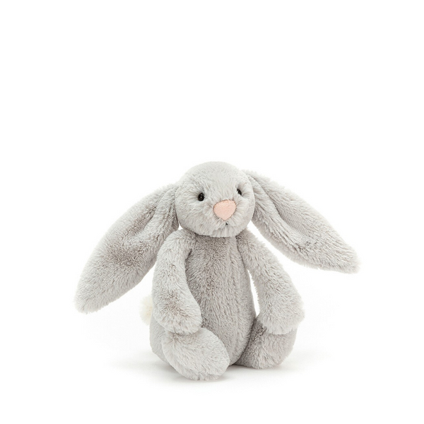Jellycat Bashful Bunny Small - Silver - Dapper Mr Bear - www.dappermrbear.com - NZ