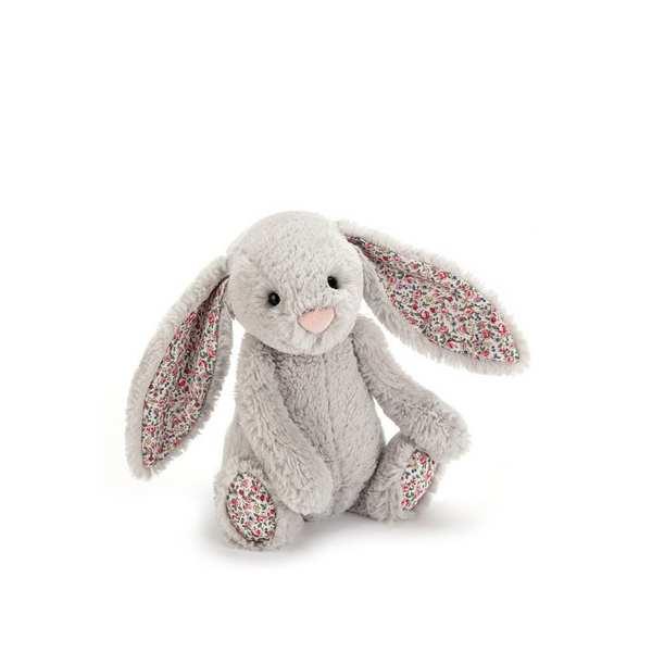 Jellycat Bashful Bunny Small - Blossom Silver - Dapper Mr bear - www.dappermrbear.com - NZ