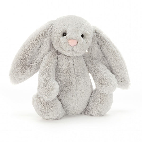Jellycat Bashful Bunny Medium - Silver - Dapper Mr Bear - www.dappermrbear.com - NZ