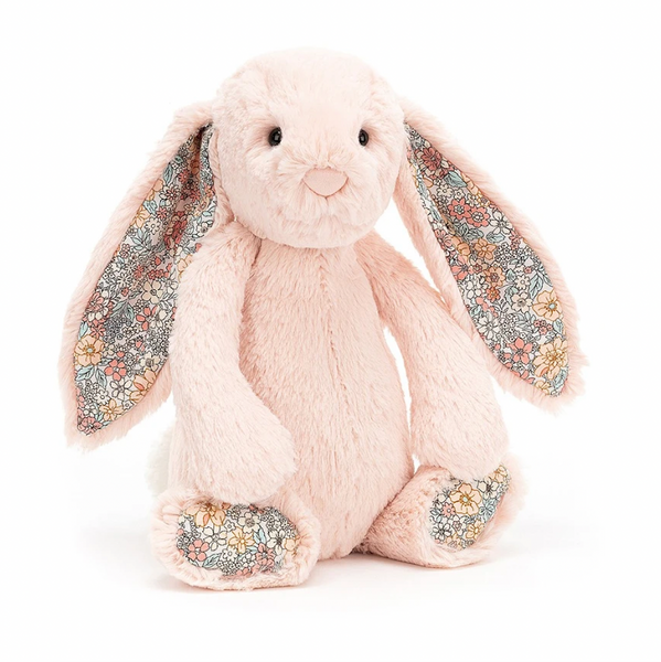 Jellycat Bashful Bunny Medium - Blush Blossom - Dapper Mr Bear - www.dappermrbear.com - NZ