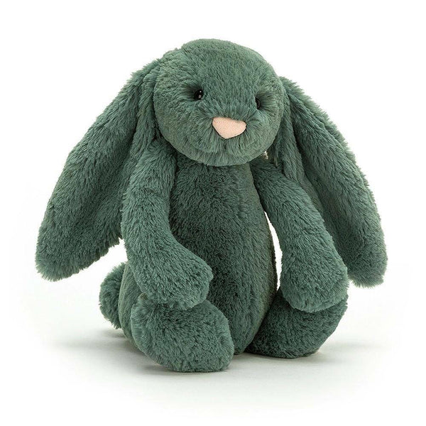 Jellycat Bashful Bunny Medium - Forest - Dapper Mr Bear - www.dappermrbear.com - NZ
