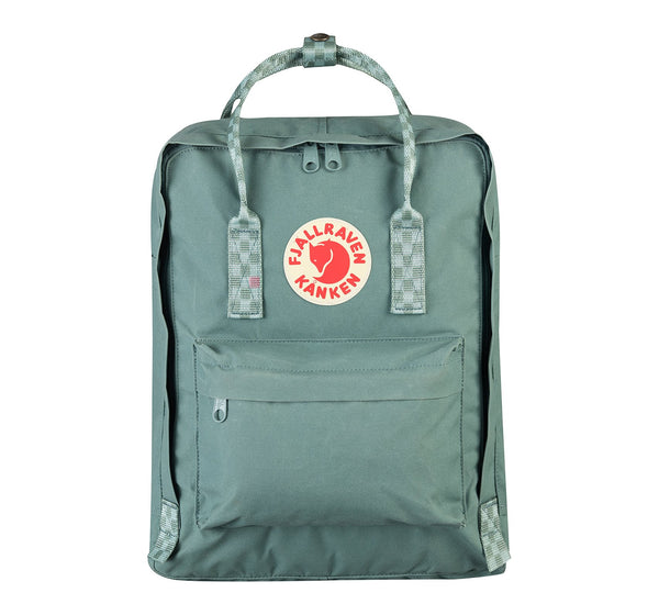 Kanken Classic Backpack - Frost Green with chess pattern