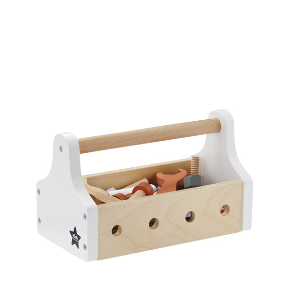 Wooden Tool Box - White, Kids Concept | Dapper Mr Bear