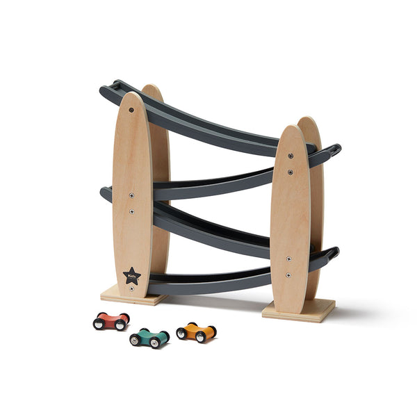 Kids Concept Wooden Car Track - Natural/Grey