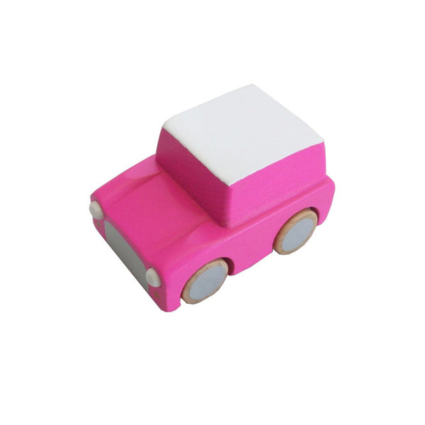 Wooden Toy Cars (pink last one)
