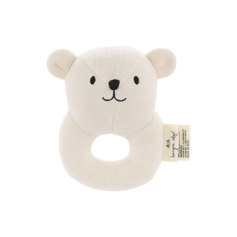 Konges Sløjd Quro Mini Bear Rattle - Dapper Mr Bear - www.dappermrbear.com - NZ