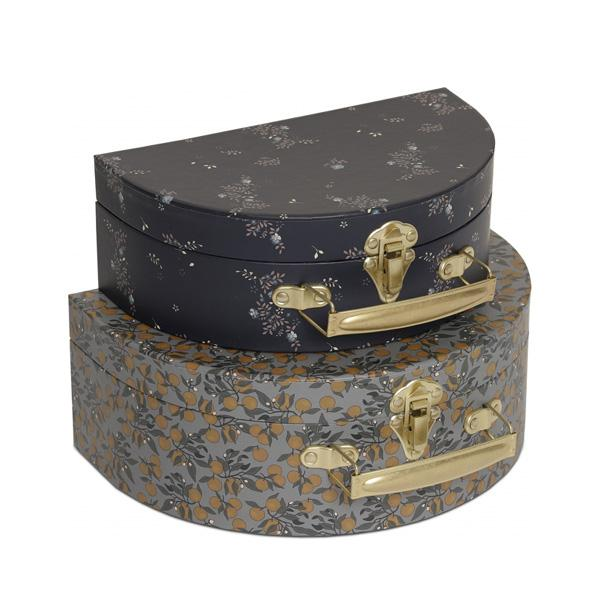 Konges Sløjd Round Suitcase Set - Orangery Blue/Nostalgia Blue - Dapper Mr bear - www.dappermrbear.com _ NZ