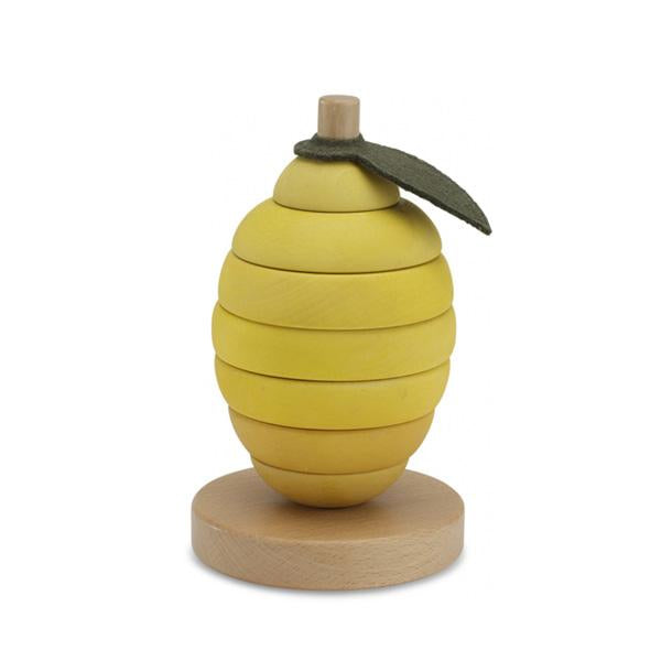 Konges Sløjd Wooden Stacking Fruits - Lemon - Dapper Mr Bear - www.dappermrbear.com - NZ
