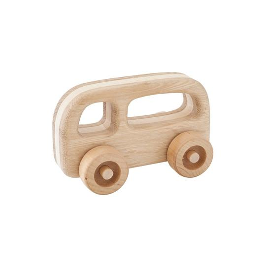 Kubi Dubi Wooden Bus - Fred - Dapper Mr Bear - www.dappermrbear.com - NZ