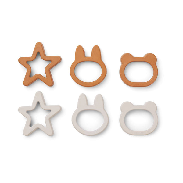 Liewood Andy Cookie Cutter 6 Pack - Mustard Mix - Dapper Mr Bear - www.dappermrbear.com - NZ