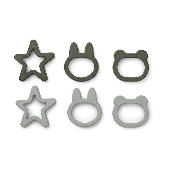 Liewood Andy Cookie Cutter 6 Pack - Hunter green mix - Dapper Mr Bear - www.dappermrbear.com - NZ