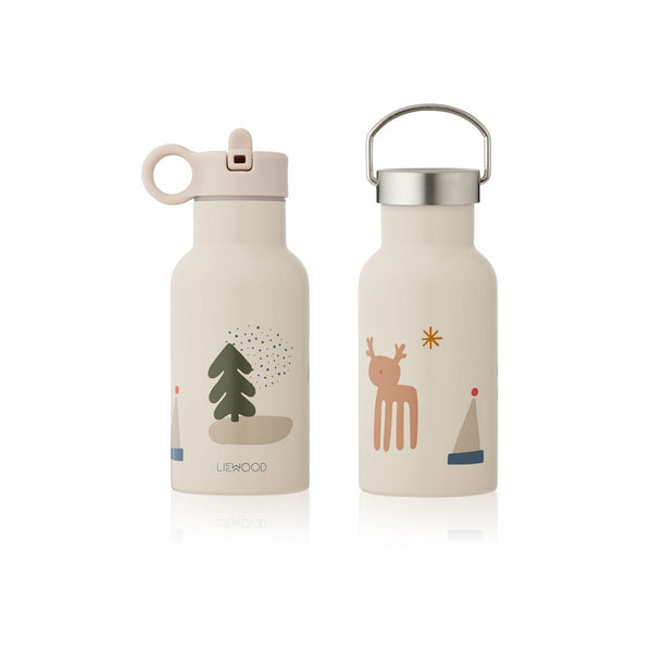 Liewood Anker Water Bottle - Holiday Mix - Dapper Mr Bear - www.dappermrbear.com - NZ