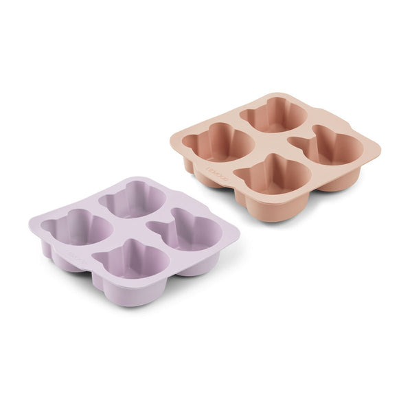 Liewood Mariam Cake Pan 2 Pack - Light Lavender Rose Mix - Dapper Mr Bear - www.dappermrbear.com - NZ
