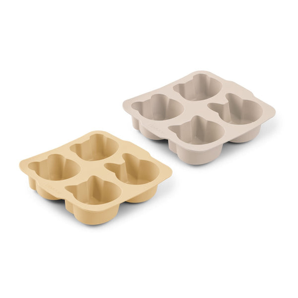 Liewood Mariam Cake Pan 2 Pack - Wheat Yellow Sandy Mix - Dapper Mr Bear - www.dappermrbear.com - NZ