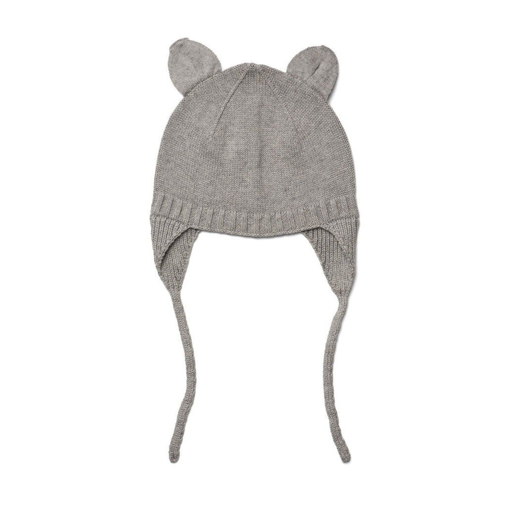 Liewood Violet Bonnet - Grey Melange - Dapper Mr Bear - www.dappermrbear.com - NZ