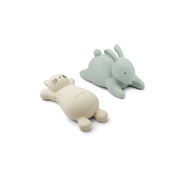 Liewood Vikky Bath Toys - 2 pack - Cream + Dusty Mint - Dapper Mr Bear - www.dappermrbear.com - NZ