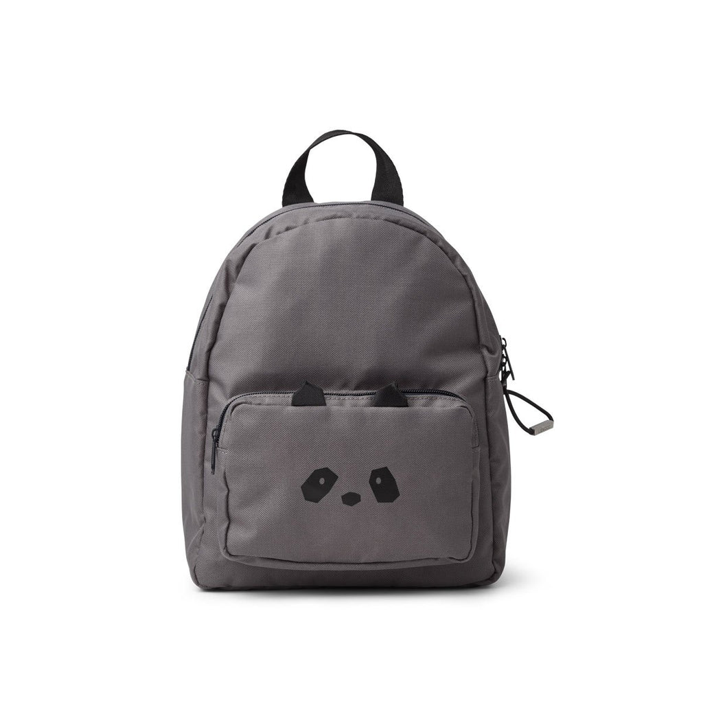 Liewood Allan Backpack - Stone Grey Panda - Dapper Mr Bear - www.dappermrbear.com - NZ