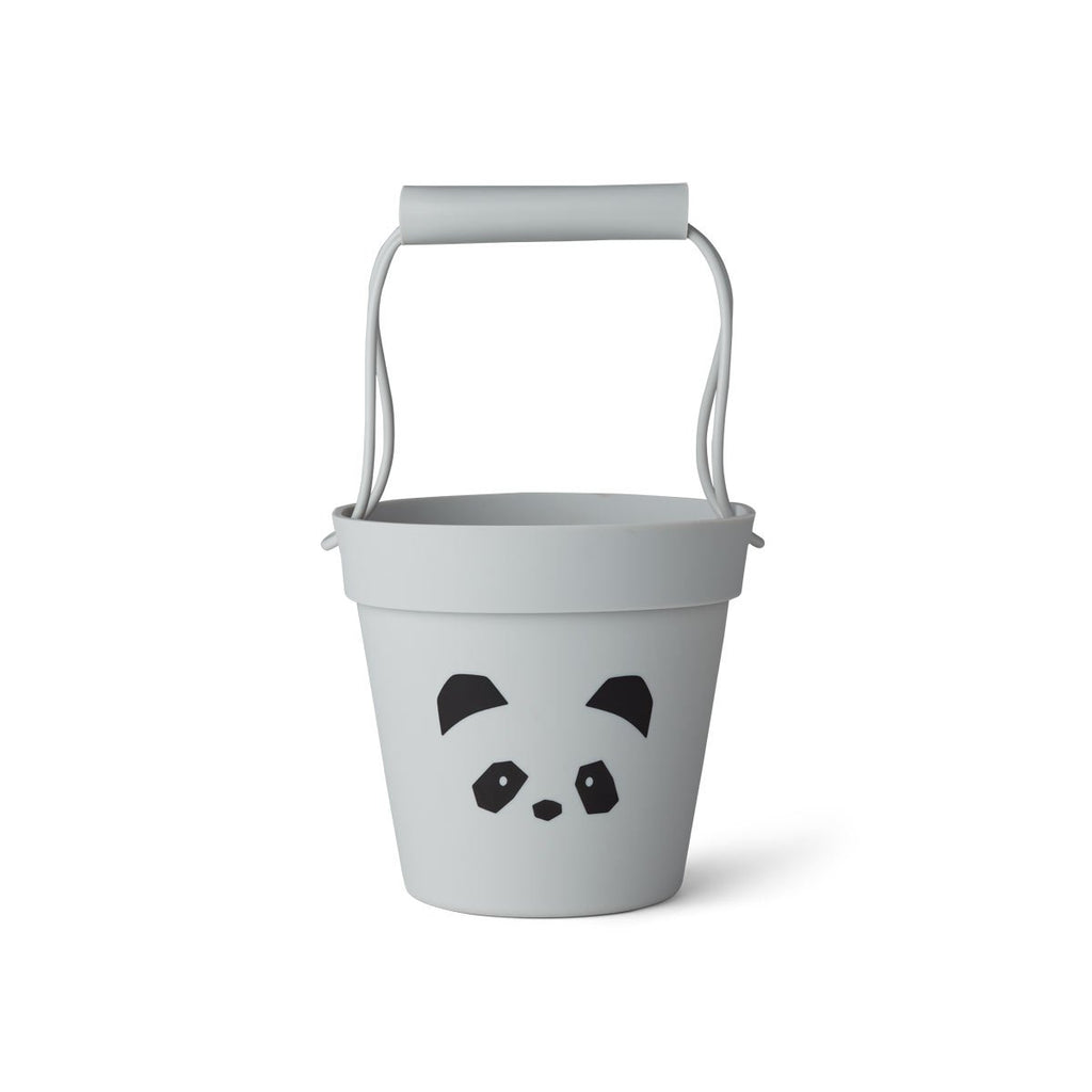 Liewood Bucket - Panda Dumbo Grey - Dapper Mr Bear - www.dappermrbear.com - NZ