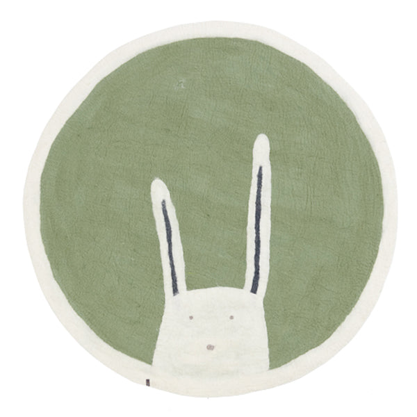 Muskhane Bunny Pasu Felt Rug - Tender Green - Dapper Mr Bear - www.dappermrbear.com - NZ