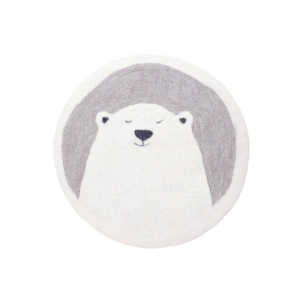 Muskhane Grizzly Pasu Felt Rug - Light Stone - Dapper Mr Bear - www.dappermrbear.com - NZ