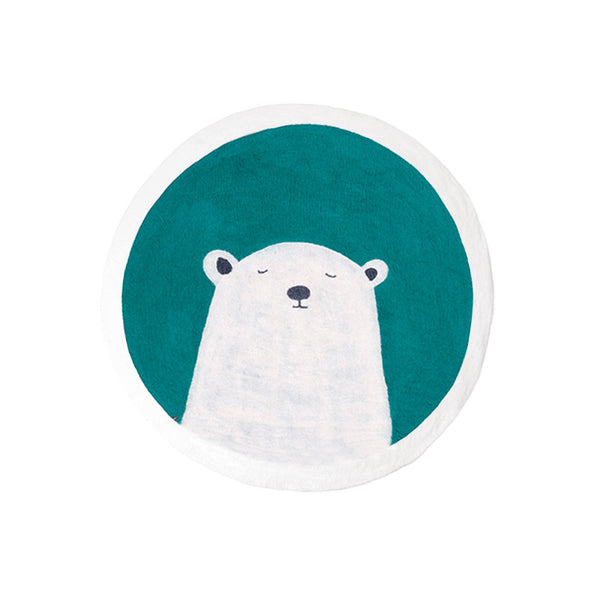Muskhane Grizzly Pasu Felt Rug - Light Turquoise - Dapper Mr Bear - www.dappermrbear.com - NZ