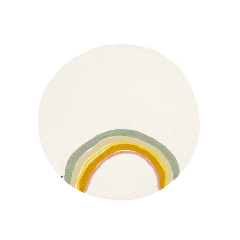 Muskhane Indreni Rainbow Rug - Natural - Dapper Mr Bear - www.dappermrbear.com - NZ