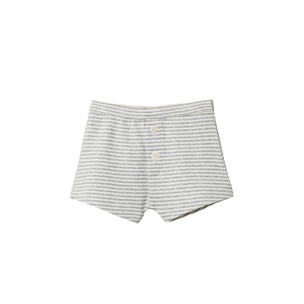 Boys' Boxer Shorts - Grey Marl Stripe - Dapper Mr Bear - www.dappermrbear.com - NZ