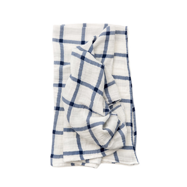 Swaddle - Navy Plaid - Clementine Kids - Dapper Mr Bear - www.dappermrbear.com - NZ