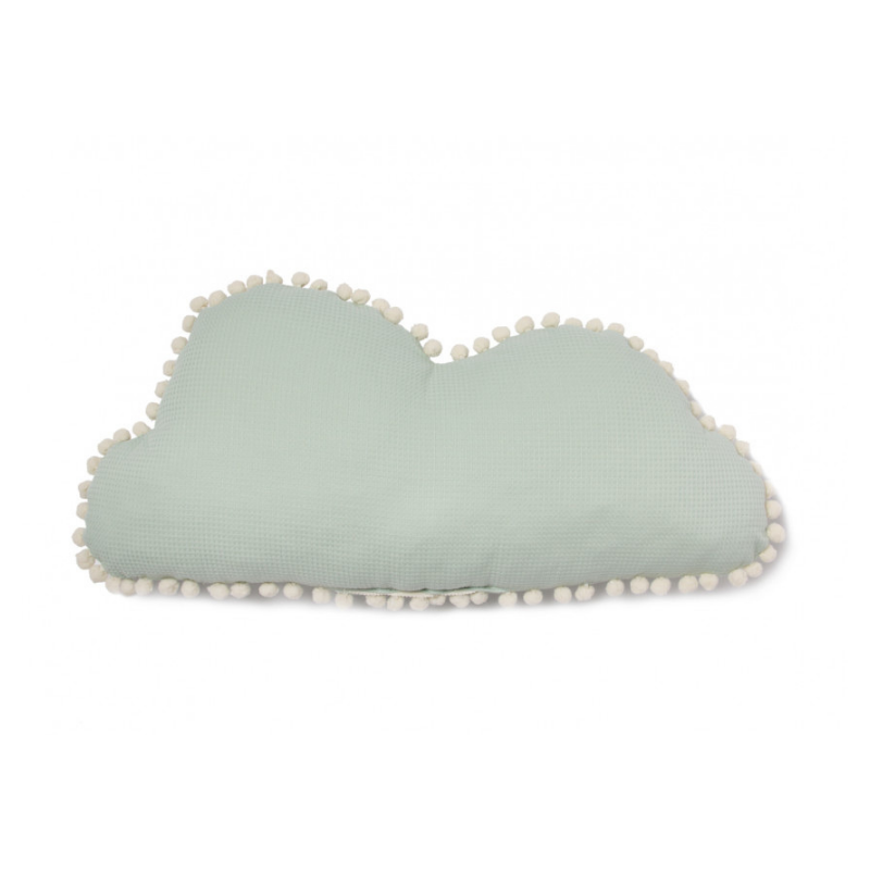 Nobodinoz - Marshmallow Cloud Cushion - Aqua - Dapper Mr Bear - www.dappermrbear.com - NZ