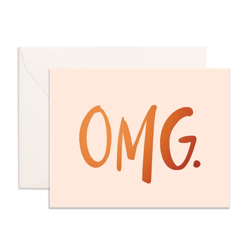 OMG. Greeting Card - Fox and Farrow - Dapper Mr Bear - www.dappermrbear.com