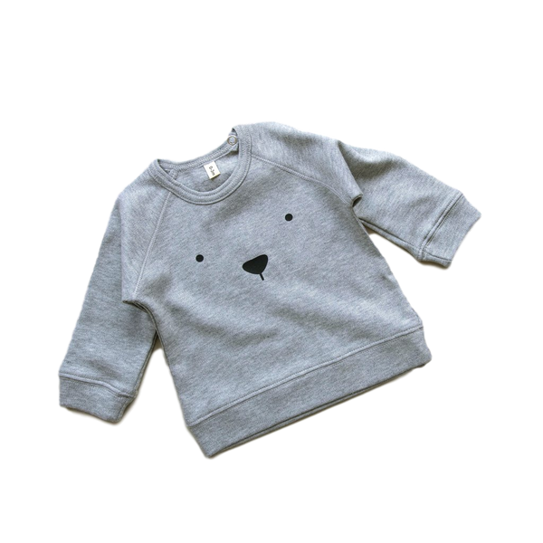 Organic Zoo - Grey Bear Jersey - Dapper Mr Bear - www.dappermrbear.com - NZ