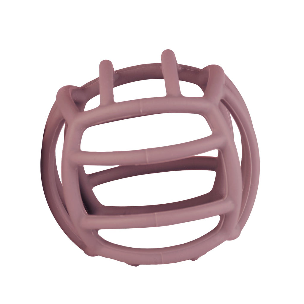 Petite Eats Silicone Teething Ball - Dusky Rose